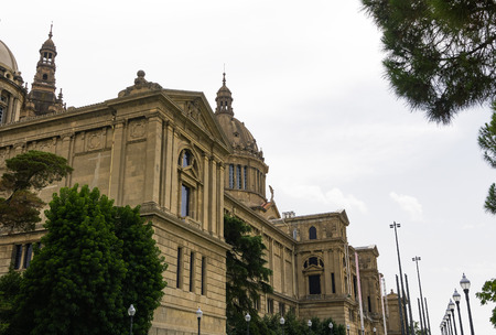 Barcelona, Spain Museu Nacional dArt de Catalunya facade. External day view of National Art Museum of Catalonia MNAC on Montjuïc hill at Palau Nacional area. Stock Photo