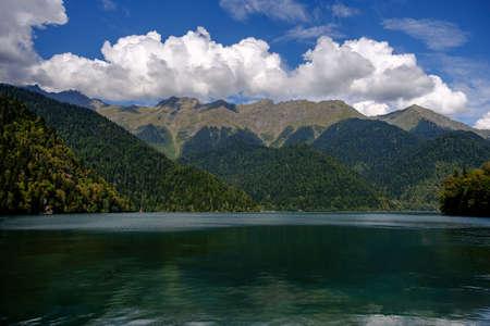 Mountain Lake Ritsa in the region at noon. 写真素材
