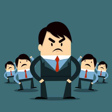 Employee and Boss Vector