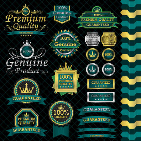 luxury label set and black background Vector