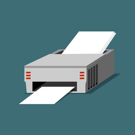 computer peripheral: Printer illustration Illustration
