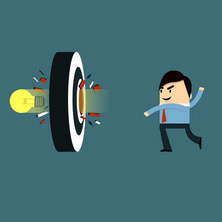 achievable: Businessman - Target Bulb