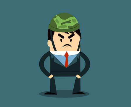 Soldier Business Illustration