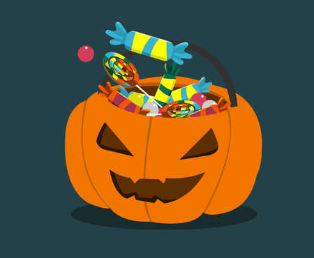 period costume: Trick or treat pumpkin