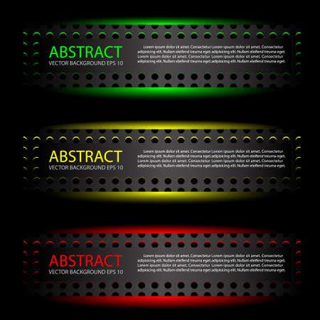 dark fiber: Abstract metal label background