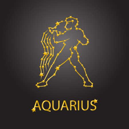 abstract aquarius: Aquarius zodiac signs Illustration