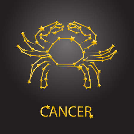 cancer zodiac: Cancer zodiac signs Illustration