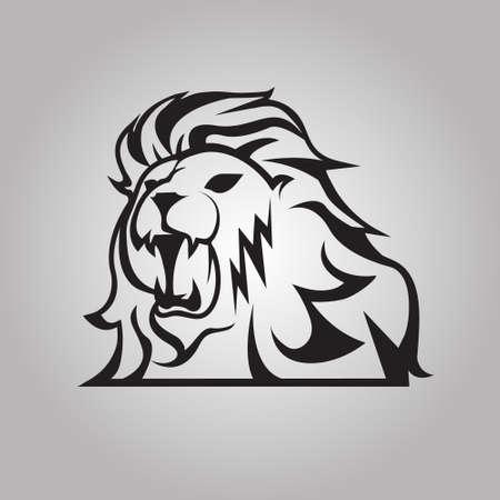lion dessin: Lion rugissant