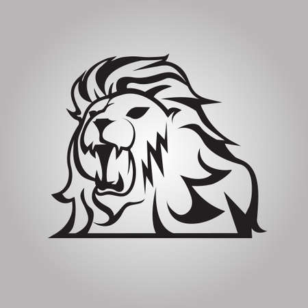 lion tail: Roaring lion Illustration
