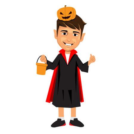 rudeness: Halloween little child vampire Illustration