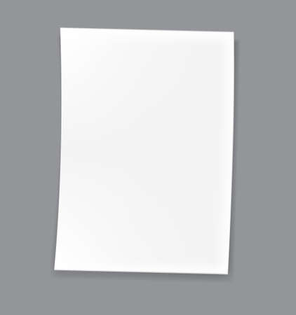 Empty paper, Blank sheet isolated on white background