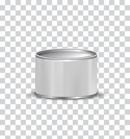 Blank Tin Can with isolated background