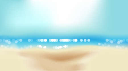 Summer beach with shiny sparkling sea water, vector background