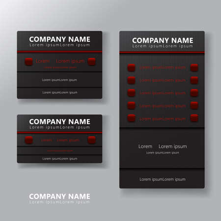 Modern business card template design, Contact card for company, Vector illustration, Flat design
