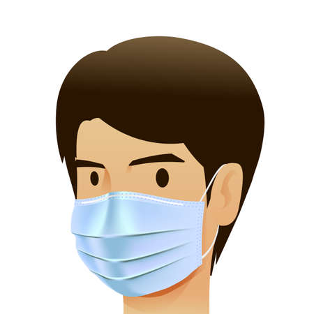 Face pollution mask, for medical and dust pm2.5, danger protection or health disease cough breath protective devices allergy for hospital