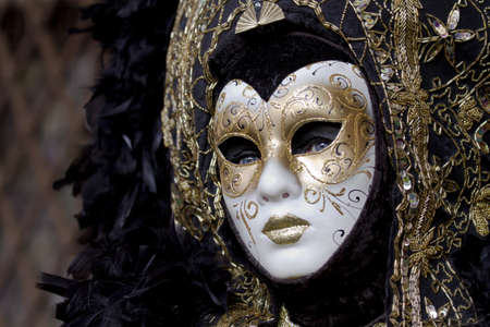 Beautiful woman carnival mask in Venice