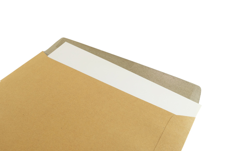 administer: Isolated documents inside brown documents envelope is still opened