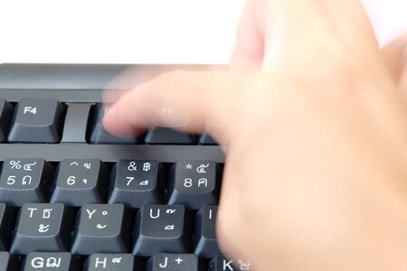 action blur: forefinger moving action blur mode to push the F5 button on keyboard