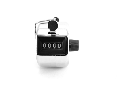 number 0000 selected focus shown in number counter Desaturate mode Stock Photo
