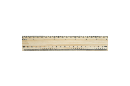 centimeters: 8 inches (20 centimeters) wood pattern ruler (isolated and have clipping path)
