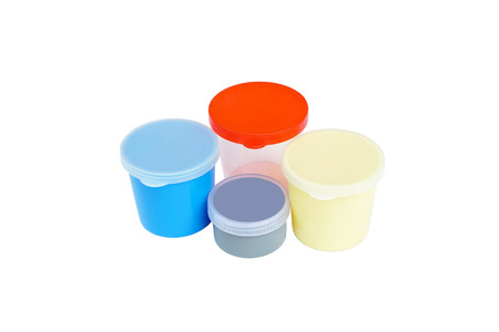 specimen testing: urine and sputum collection container in many size and color (isolated mode and have clipping path)