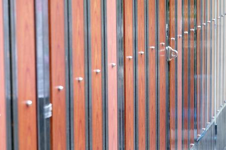 standard steel: alloy hasp on the alloy wood door