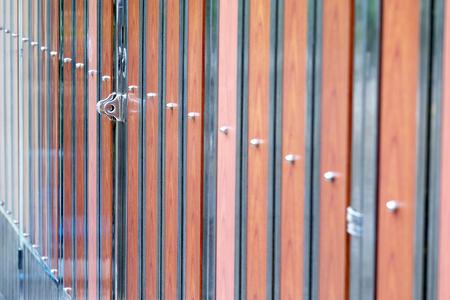 alloy: alloy hasp on the alloy wood door