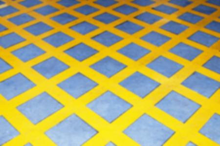 crossings: Yellow Box Junctions Markings (blur mode) Stock Photo