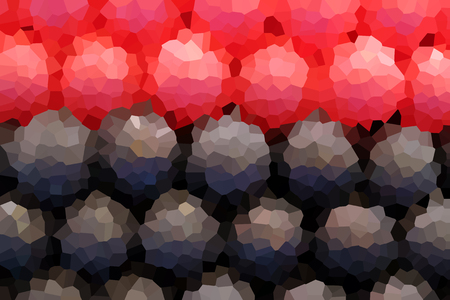 pixelate: crystallize red ,deep blue,black polka dot  background Stock Photo