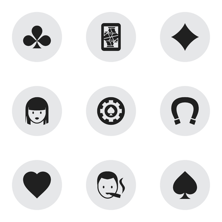 Set Of 9 Editable Excitement Icons. Includes Symbols Such As Love, Game Card, Smoker And More. Can Be Used For Web, Mobile, UI And Infographic Design.