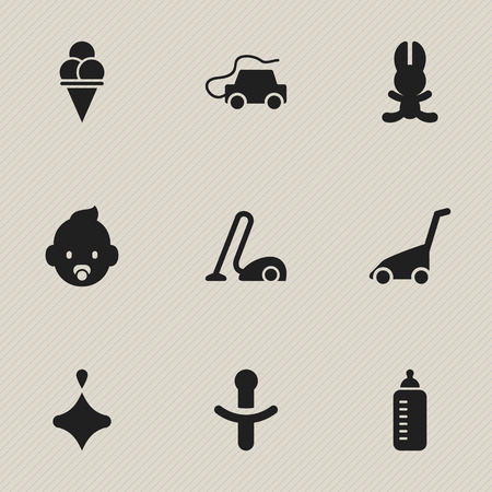 Set Of 9 Editable Folks Icons. Includes Symbols Such As Bunny, Car, Sweeper And More. Can Be Used For Web, Mobile, UI And Infographic Design. Imagens - 74226038