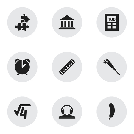 graduation countdown: Set Of 9 Editable University Icons. Includes Symbols Such As Museum, Jigsaw, Calculator And More. Can Be Used For Web, Mobile, UI And Infographic Design. Illustration