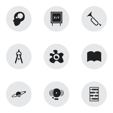 Set Of 9 Editable Graduation Icons. Includes Symbols Such As Astrology, Creative Idea, Ring And More. Can Be Used For Web, Mobile, UI And Infographic Design. Illustration