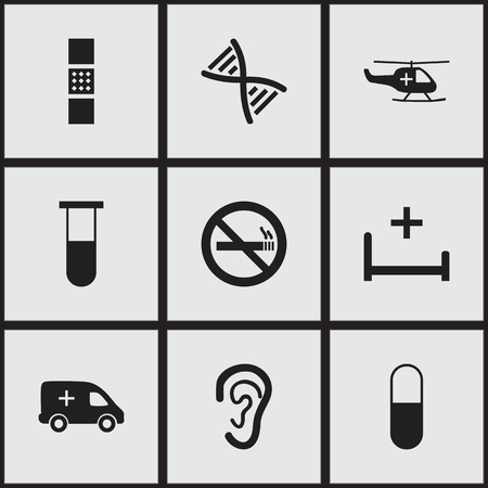 Set Of 9 Editable Care Icons Includes Symbols Such As Analysis