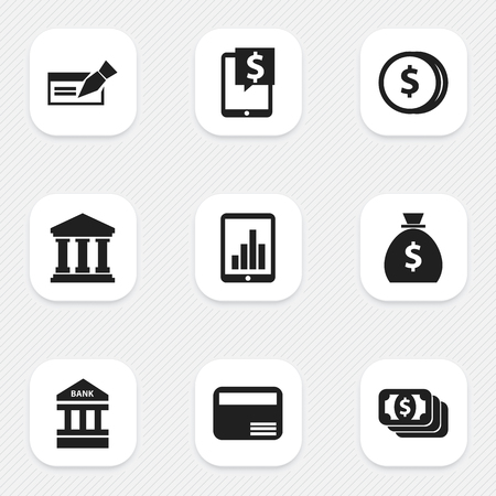 holdall: Set Of 9 Editable Investment Icons. Includes Symbols Such As Specie, Holdall, Edifice And More. Can Be Used For Web, Mobile, UI And Infographic Design.
