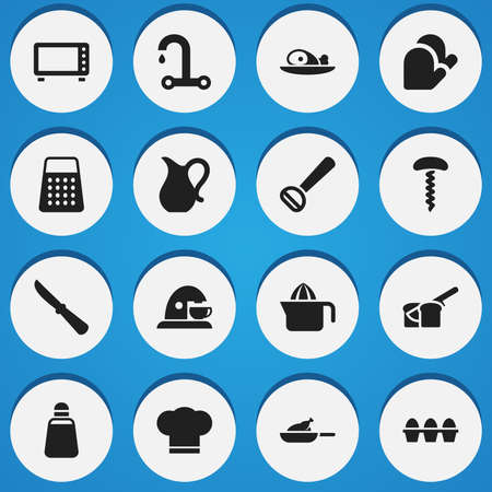 originator: Set Of 16 Editable Cook Icons. Includes Symbols Such As Kitchen Blade, Faucet, Juicer And More. Can Be Used For Web, Mobile, UI And Infographic Design.