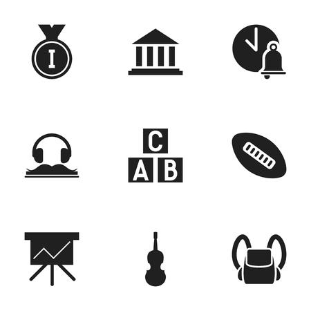 74542742 - Conjunto de 9 iconos de educación Editable. Incluye símbolos  como Fiddle 6d95ad21b2f