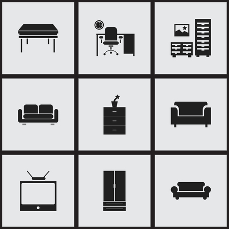davenport: Set Of 9 Editable Home Icons. Includes Symbols Such As Davenport, Trestle, Office And More. Can Be Used For Web, Mobile, UI And Infographic Design.