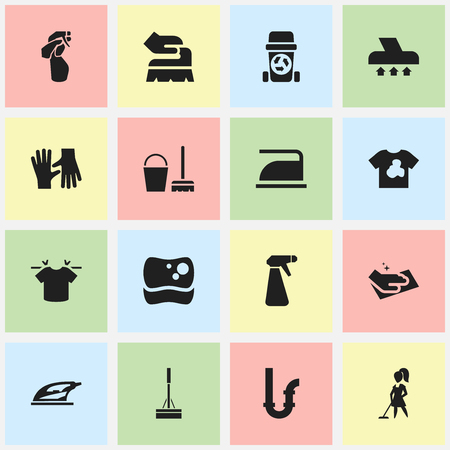 heat sink: Set Of 16 Editable Dry-Cleaning Icons. Includes Symbols Such As Rubbish Container, Washing Tool, Window Cleaner And More. Can Be Used For Web, Mobile, UI And Infographic Design.