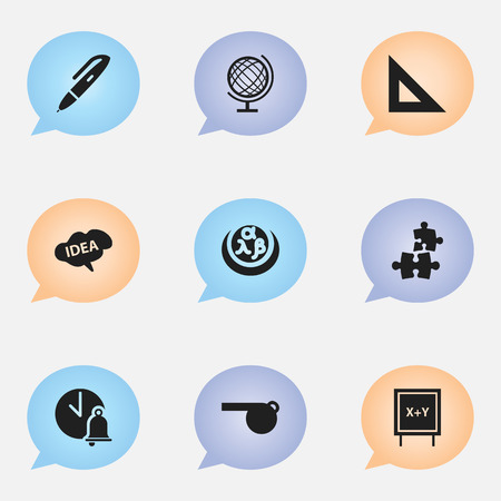 Set Of 9 Editable Science Icons Includes Symbols Such As Blower