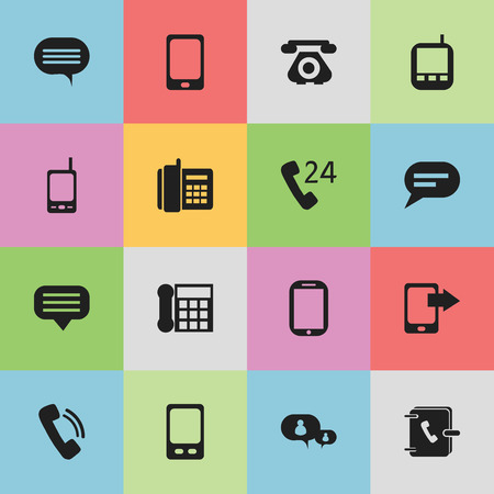 gps device: Set Of 16 Editable Communication Icons. Includes Symbols Such As Smartphone, Mobile, Transceiver And More. Can Be Used For Web, Mobile, UI And Infographic Design. Illustration