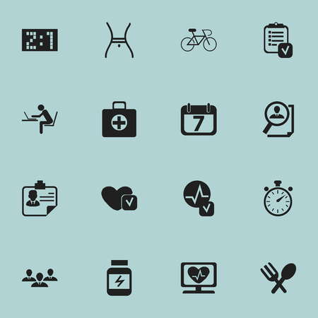agenda browse: Set Of 16 Editable Complicated Icons. Includes Symbols Such As Soul, Result, First Aid Box And More. Can Be Used For Web, Mobile, UI And Infographic Design.