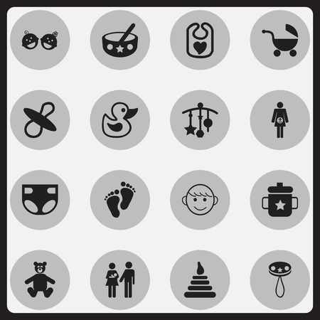 adorn: Set Of 16 Editable  Icons. Includes Symbols Such As Lineage, Adorn, Nappy And More. Can Be Used For Web, Mobile, UI And Infographic Design.