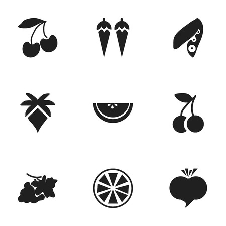 soy: Set Of 9 Editable Dessert Icons. Includes Symbols Such As Cantaloupe, Lemon, Radish And More. Can Be Used For Web, Mobile, UI And Infographic Design.