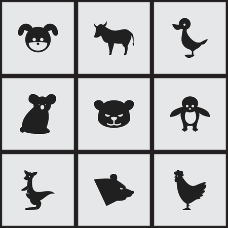Set Of 16 Editable Animal Icons Includes Symbols Such As Australian