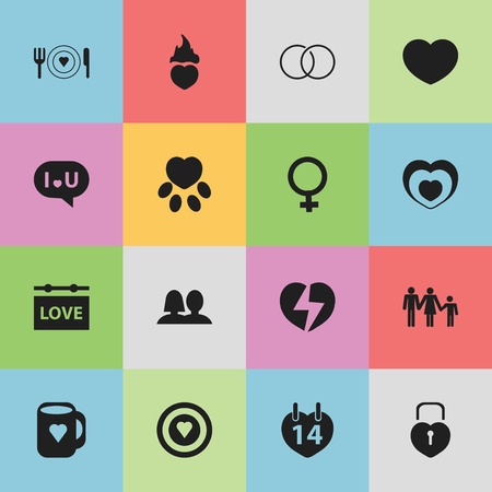 pounce: Set Of 16 Editable Amour Icons. Includes Symbols Such As Banner, Confession, Fire Loving And More. Can Be Used For Web, Mobile, UI And Infographic Design. Illustration
