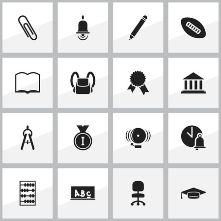 baccalaureate: Set Of 16 Editable Education Icons. Includes Symbols Such As School Bell, Graduate, Victory Medallion And More. Can Be Used For Web, Mobile, UI And Infographic Design.