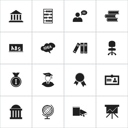 Set Of 16 Editable Graduation Icons. Includes Symbols Such As Mind, First Place, Courtroom And More. Can Be Used For Web, Mobile, UI And Infographic Design.