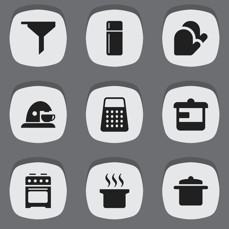 originator: Set Of 9 Editable Cooking Icons. Includes Symbols Such As Utensil, Shredder, Cookware And More. Can Be Used For Web, Mobile, UI And Infographic Design.