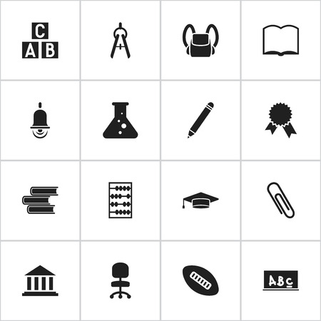 Set Of 16 Editable Science Icons. Includes Symbols Such As Graduate, Victory Medallion, Math Tool And More. Can Be Used For Web, Mobile, UI And Infographic Design.